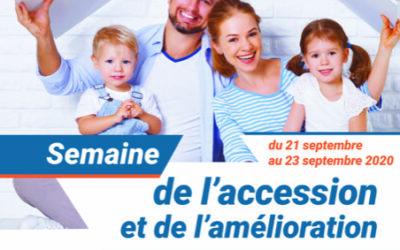 Semaine de l'accession et de l'amélioration du 21 au 23 septembre 2020