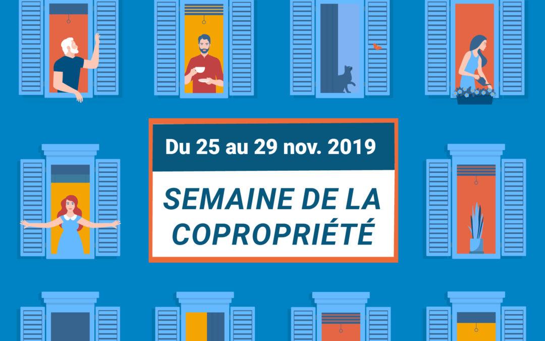 Semaine de la copropriété du 25 au 29 nov 2019
